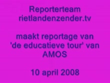 Reporterteam de educatieve tour van Amos